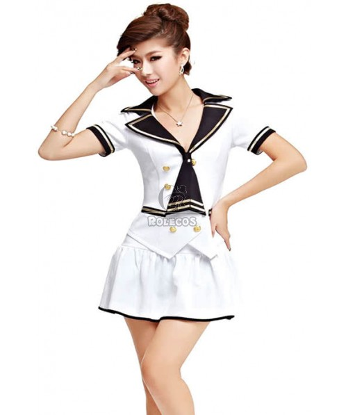 Three Color Flight Attendant Costume With Comfortable Fabric
