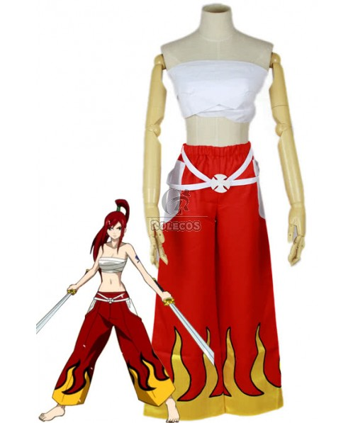 Fairy Tail Erza Scarlet Cosplay Costumes