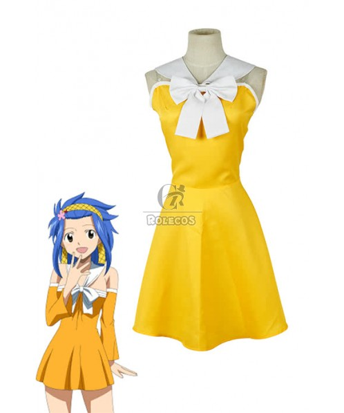 Fairy Tail Levy McGarden Dress Cosplay Costume Customized