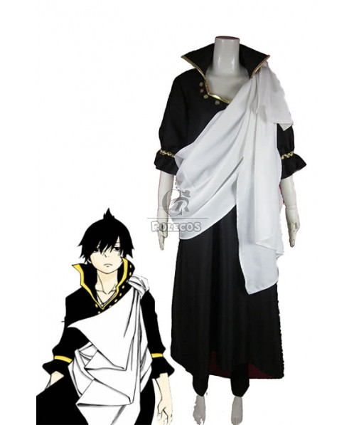 Fairy Tail Zeref Cosplay Costume With Cool White