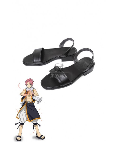 Fairy Tail Anime Natsu Dragneel Black Cosplay Shoes