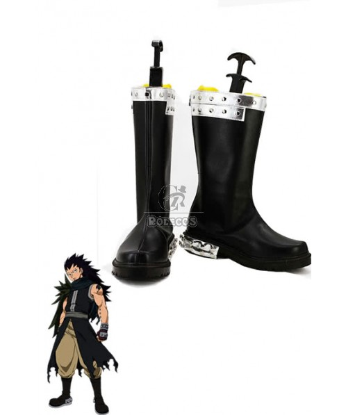 Fairy Tail Gajeel Redfox Boots Anime Cosplay Shoes For Christmas Custom Made
