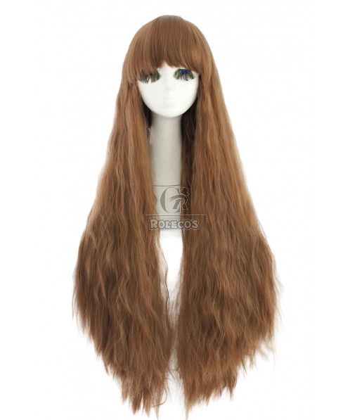 Fashion Long Lolita Brown Curly Wave Party Hair Wigs
