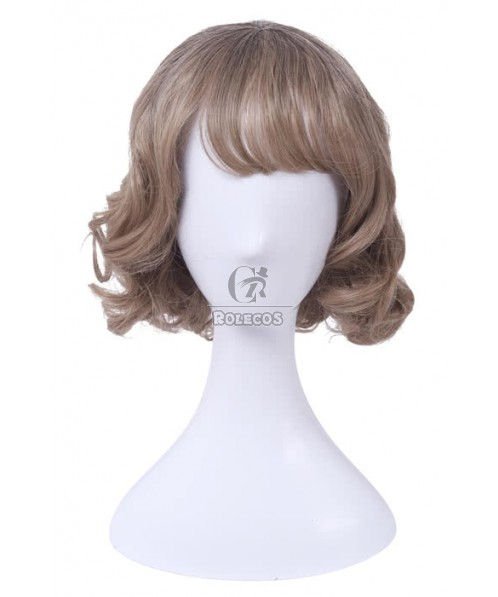 Fashion Mixed Short Curly Synthetic Female Fashion Wig