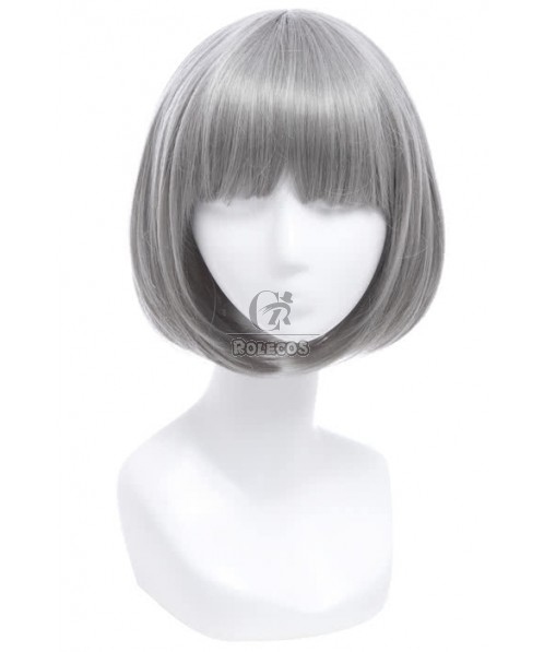 Fashion Short Silver Synthetic Woman Wigs