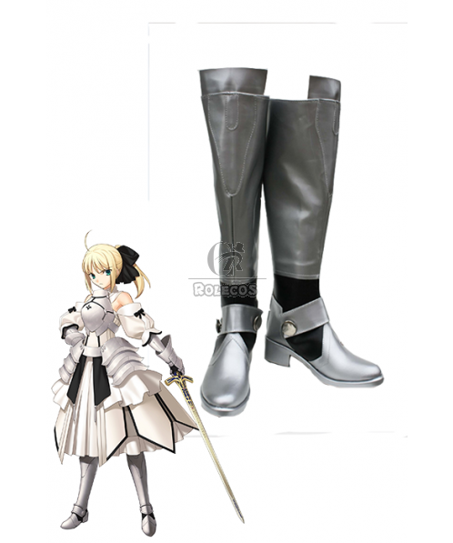 Fate Stay Night Saber Lily Cosplay Shose Boots Any Size