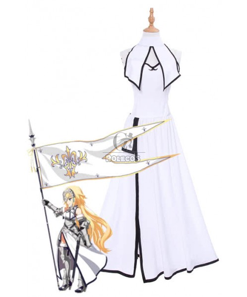 Fate/Grand Order Fate Go Ruler Jeanne d'Arc Long White Dress Game Cosplay Costumes