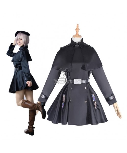 Fate Grand Order Matthew Kyrielite Black Trench Coat Cosplay Costume