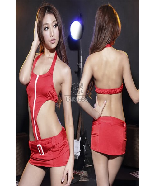 Cars-Piece Suits Sexy Racer Girl Costumes One Free Size