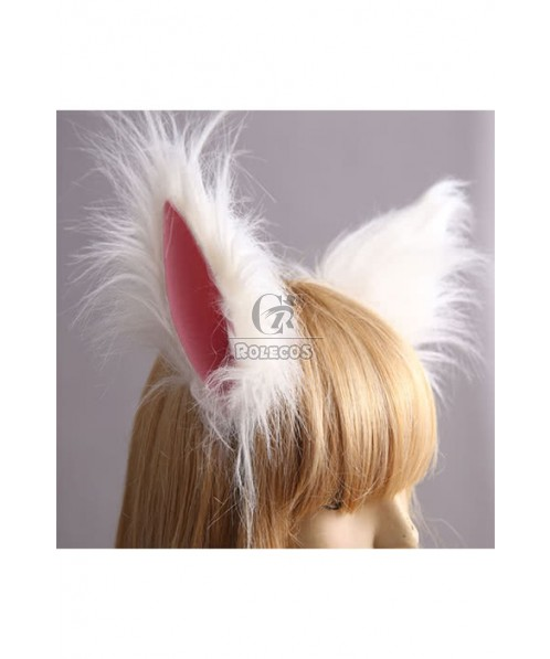 Fox Ear Animal Ear Cosplay Lovely White And Pink