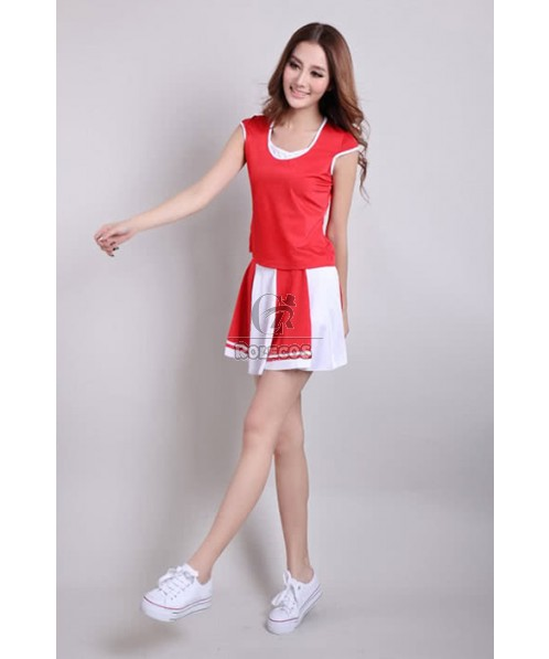 Sweet Attractive Cheerleader Costumes Two Color For Your Selection