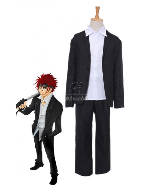 Final Fantasy VII 7 Reno Black and White Suit Cosplay Costumes