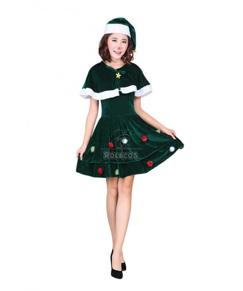 Christmas Costume Cute Christmas Trees Dress