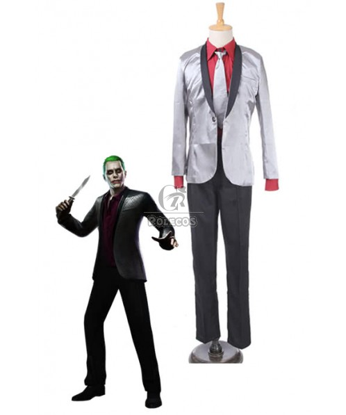 Suicide Squad Joker Movie Cosplay Costumes Men Suits