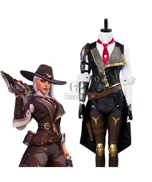 Game OW Ashe Cosplay Costume Full Sets