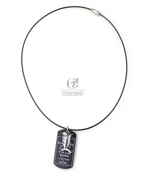 """Cool Anime Cosplay Death Note Symbol """"L"""" Design Double Pendants Necklace"""
