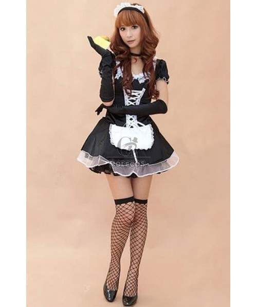 Plus Size Late Nite France Maid Costume