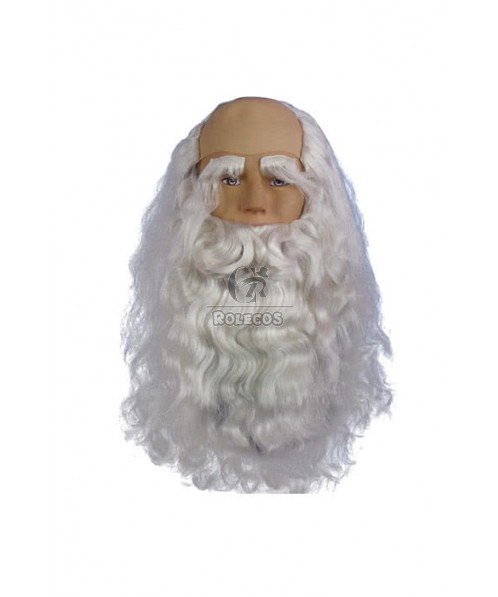 Christmas Rubie's Santa Claus Cosplay Wig With Mustache And Eyebrow