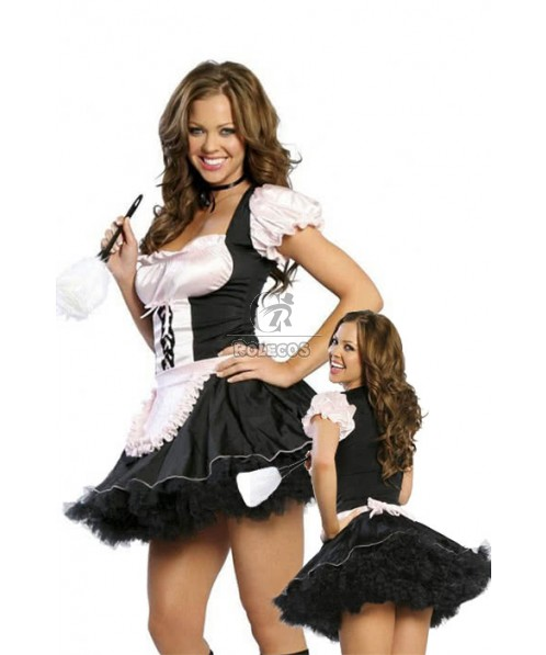 Sexy Lingerie French Maid Costumes For Adult Cosplay Party Wear
