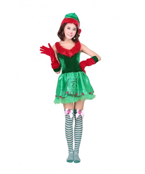 Christmas Costume Colorful Lovely Dress