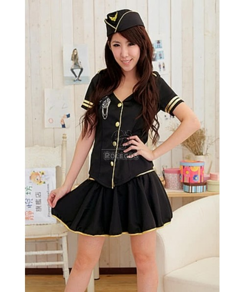 Classic Flight Attendant Costumes Skirt Cosplay Uniforms Special Design
