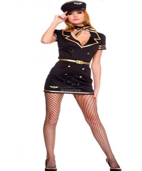 The Special Sexy Flight Attendant Costume Attractive Hot Sale