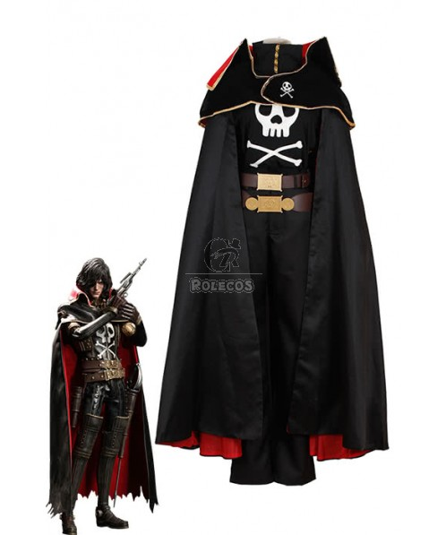 Galaxy Express 999 Space Pirate Captain Harlock Cosplay Costumes