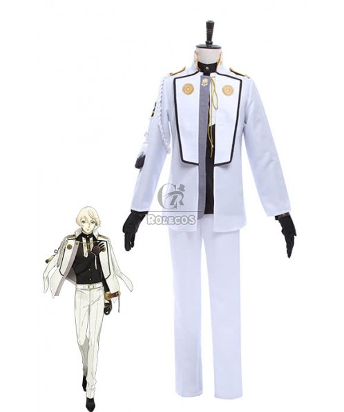 Touken Ranbu Higekiri Hizamaru's Brother White Game Cosplay Costumes