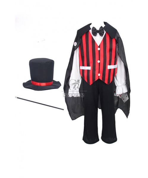 Boys Magician Costume for Kids party Cosplay Carnival and Halloween