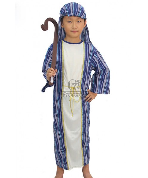 Halloween performance wear arabic clothes for boys arabian gowns cosplay costume