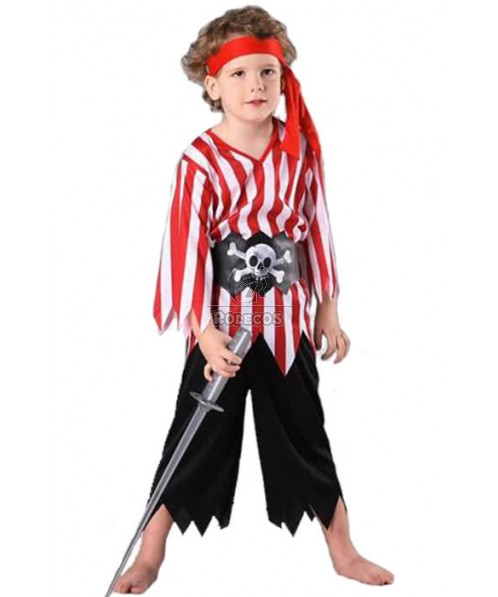 Halloween Boys Pirate Role Play Cosplay Costume Set