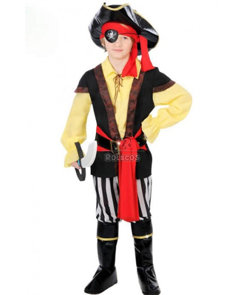 Halloween Party Boys Pirate Cosplay Costume