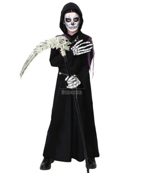 Black Robe For Boy's Kids Children Halloween Performance Cosplay Costume
