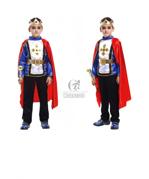 Halloween children Prince mounted masquerade King little prince stage Cosplay Costume