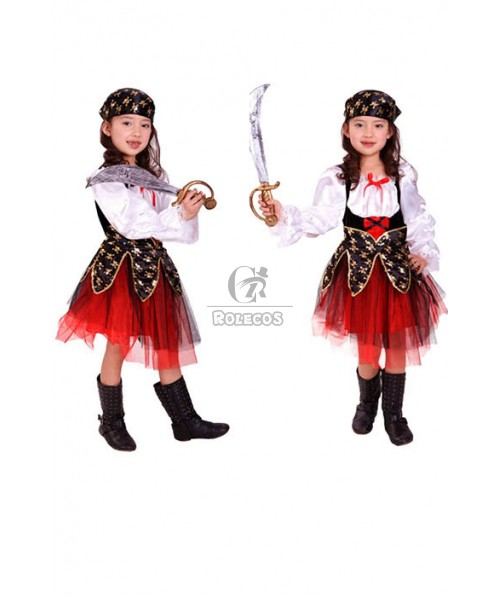 Children's Halloween stage performance clothing Pirates skirt girls dance party costume