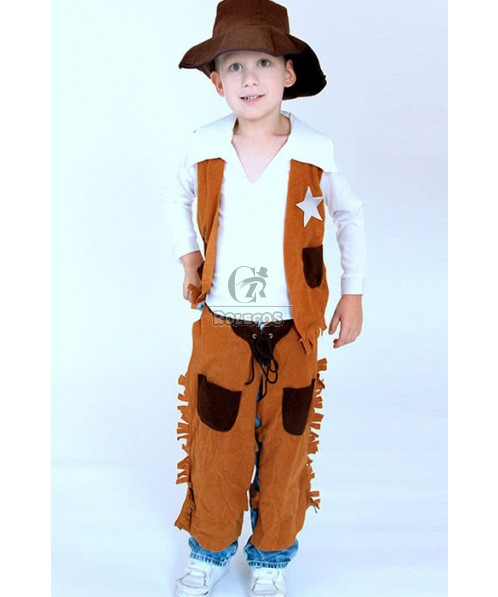 kids West cowboy performance clothing cosplay costumes