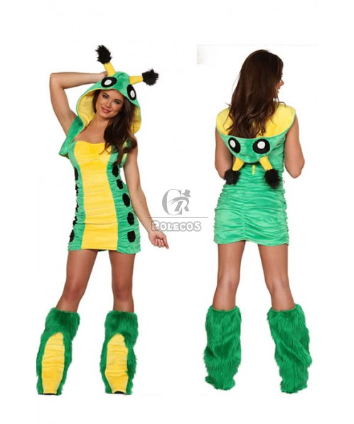 Women sexy furry animal Christmas collection animal role play suits frog green bar party cosplay costumes