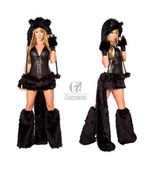 Animal women ladies fancy dress party costumes cat role play for halloween carnival christmas cosplay costumes