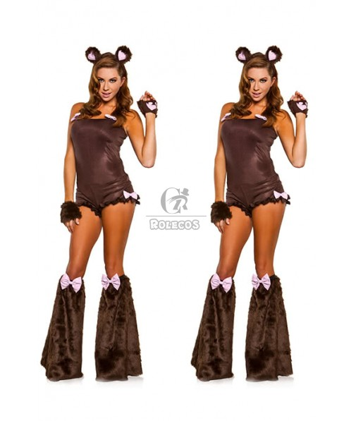 Sexy Furry Animal Cat Adult Mascot Halloween Costume For Woman