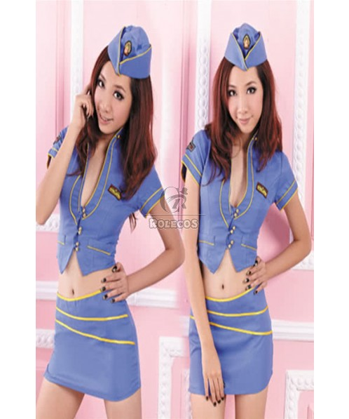 New Arrival Attractive Flight Attendant Costume