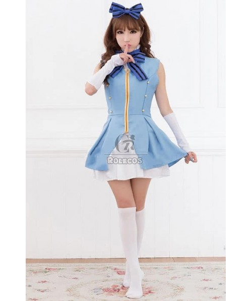 Cute Anime Love Live Cosplay Costume Umi Sonoda Start Dash Lolita Dress