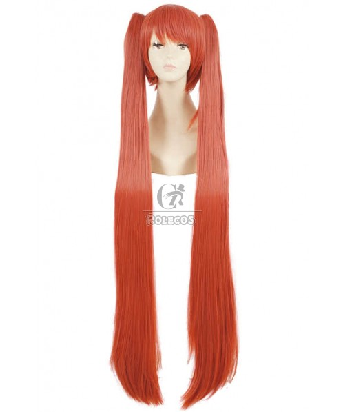 115cm Long pink cosplay wig Arcana Famiglia Felicita party hair ponytails