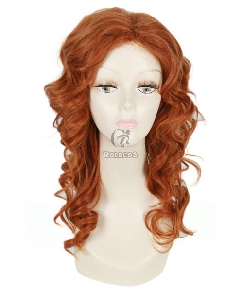 50cm long brownness culy cosplay wig Tinker Bell and Pirate Fairy Zarina
