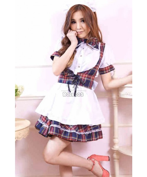 Two Different Colors Japanese Maid Outfit Uniform Temptation Cosplay Costumes