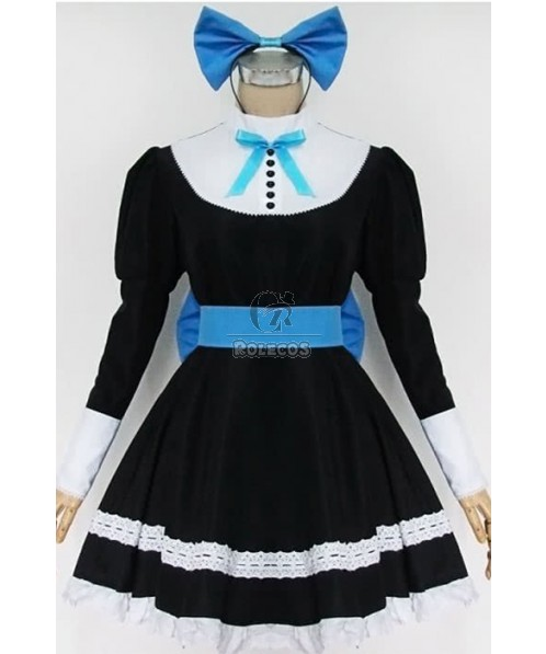 Japanese Maid Super Cute Black Cosplay Costumes