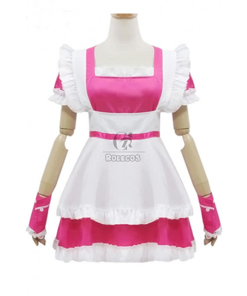 Super Cute Lolita Red Japanese Maid Cosplay Costumes