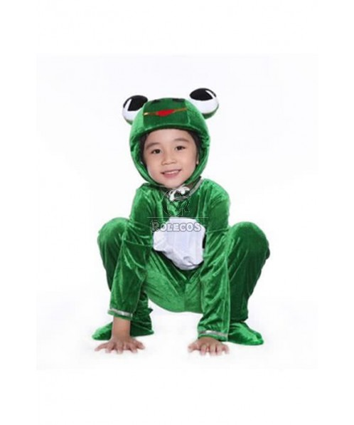 Christmas Children Costume Green Lovely Frog Jumpsuits