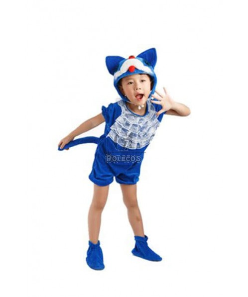 Christmas Children Costume Blue Lovely Cate