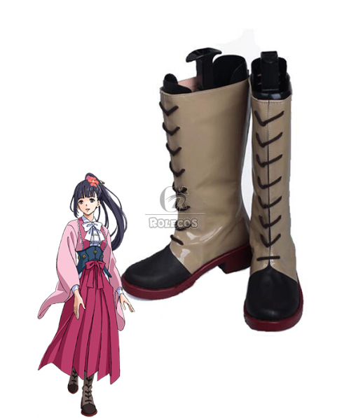 Kabaneri Of The Iron Fortress Ayame Yomogawa Cosplay Shoes Dress Shoes