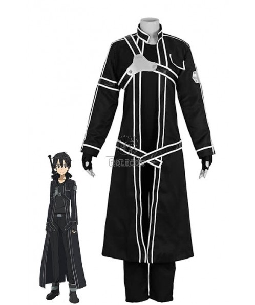 Sword Art Online Kirito Black Suit Cosplay Costumes For Men